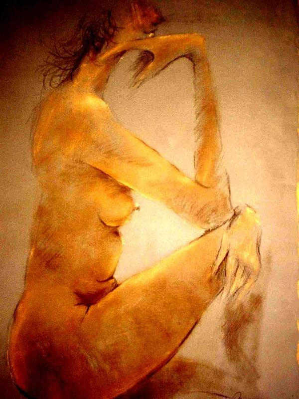 Nude Poster featuring the painting Untitled by Paul Miller