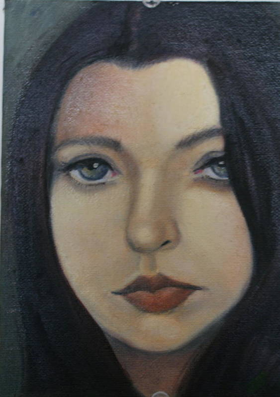 Girl Poster featuring the painting That Stare by Toni Berry