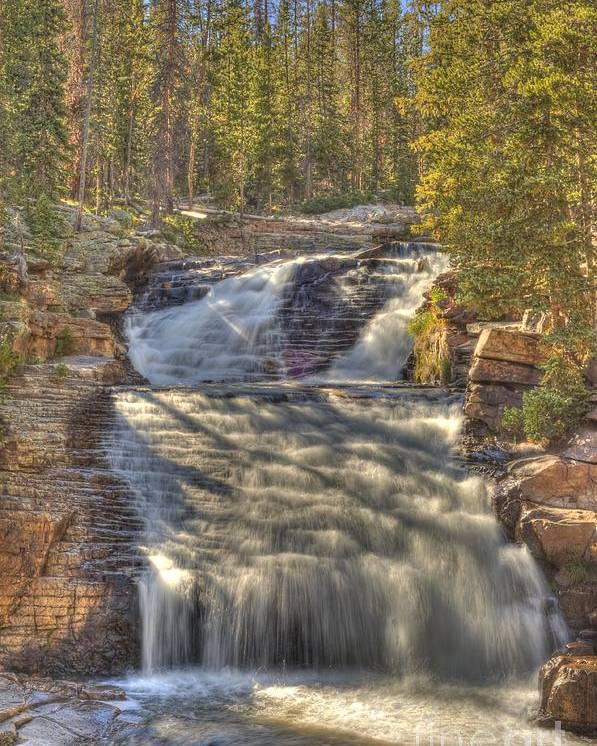 Waterfall Poster featuring the photograph Upper Provo River Falls by Dennis Hammer