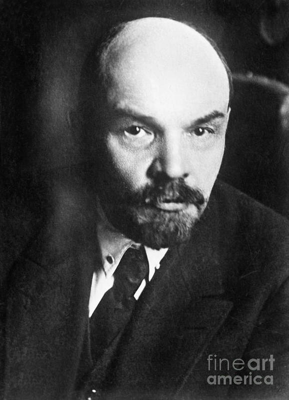 1919 Poster featuring the photograph Vladimir Lenin (1870-1924) by Granger