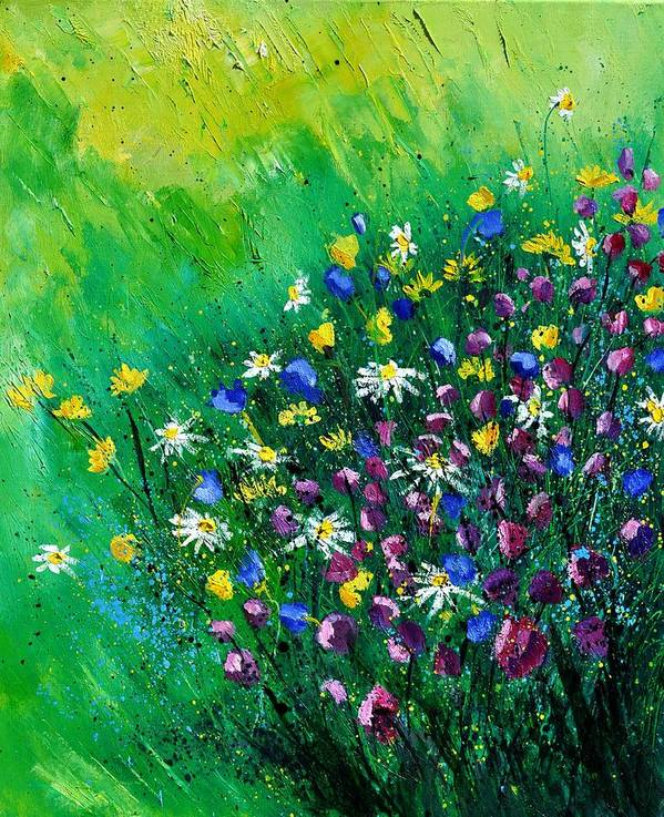 Flowers Poster featuring the painting Wild Flowers by Pol Ledent