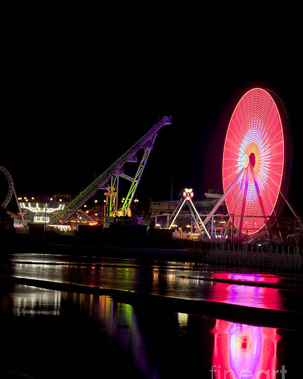 New Jersey Poster featuring the photograph Wildwood New Jersey by Anthony Totah