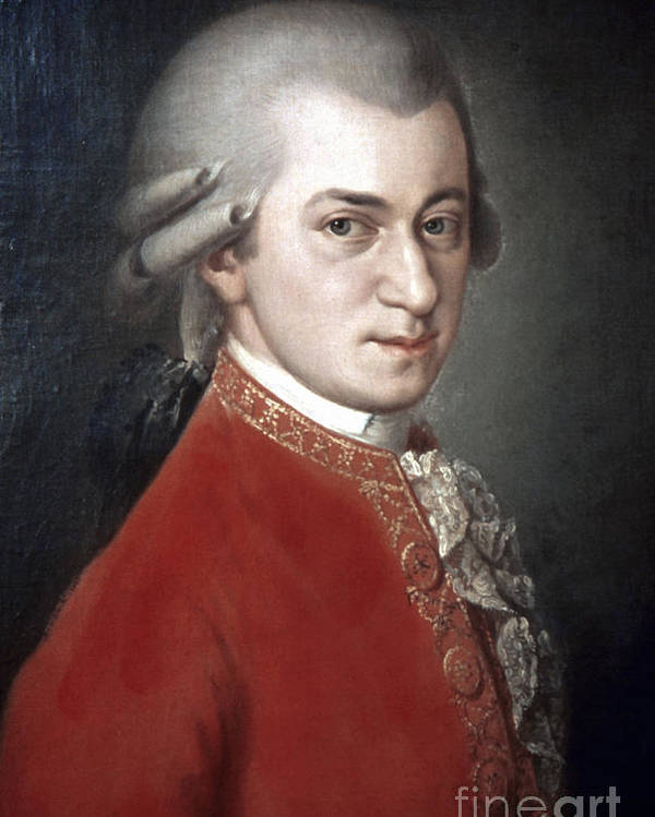 18th Century Poster featuring the photograph Wolfgang Amadeus Mozart by Granger