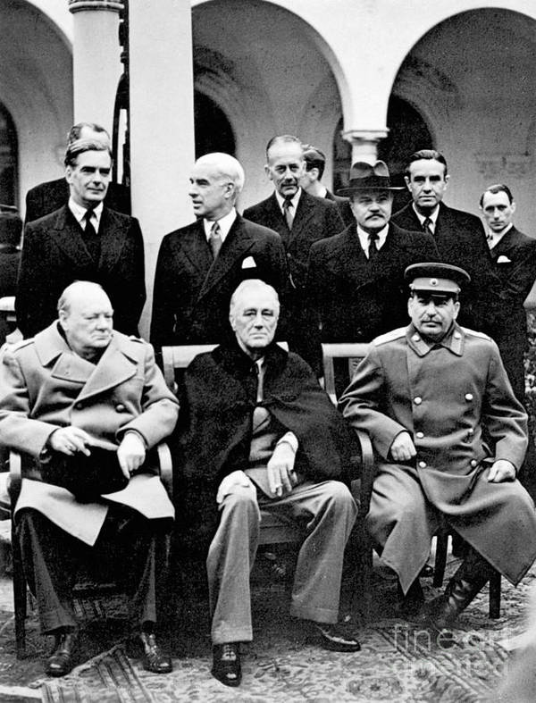 1945 Poster featuring the photograph Yalta Conference, 1945 by Granger