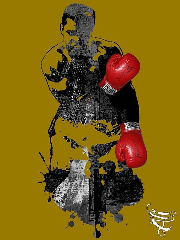 Sports Poster featuring the mixed media Muhammad Ali Collection by Marvin Blaine