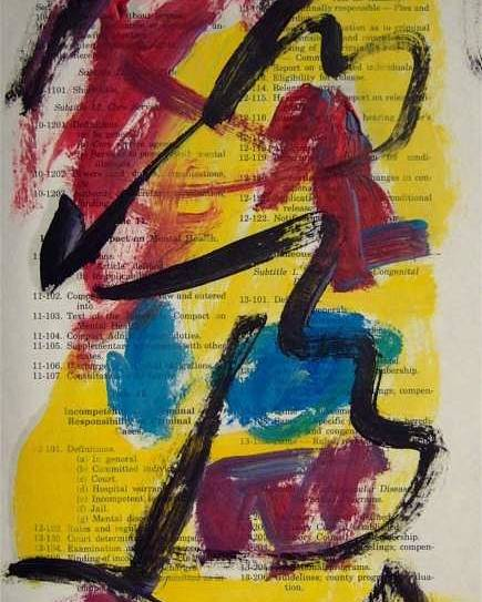 Abstract Art Poster featuring the painting Abstract On Paper No. 17 by Michael Henderson