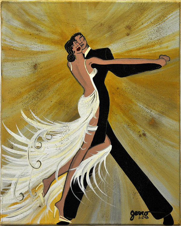 Ballroom Poster featuring the painting Ballroom Dance by Helen Gerro