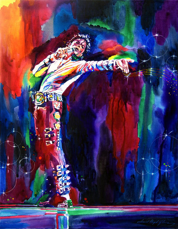 Michael Jackson Poster featuring the painting Jackson Magic by David Lloyd Glover