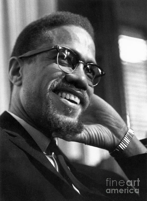 1960s Poster featuring the photograph Malcolm X (1925-1965) by Granger