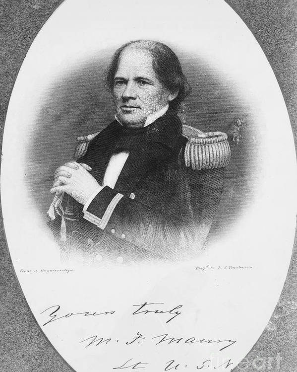 1855 Poster featuring the photograph Matthew Fontaine Maury by Granger