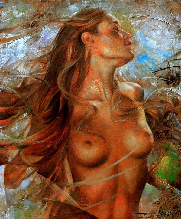 Nude Poster featuring the painting Nude by Arthur Braginsky