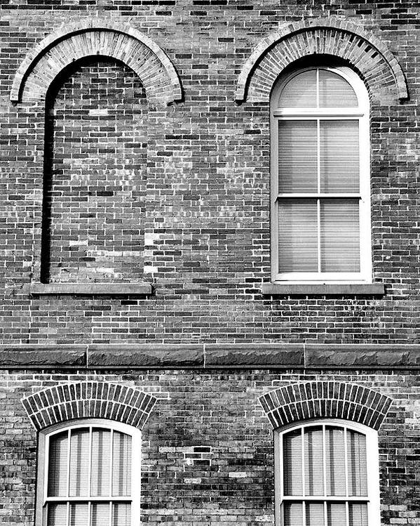 Architecture Poster featuring the photograph 3 Quaters Black And White by Caroline Clark