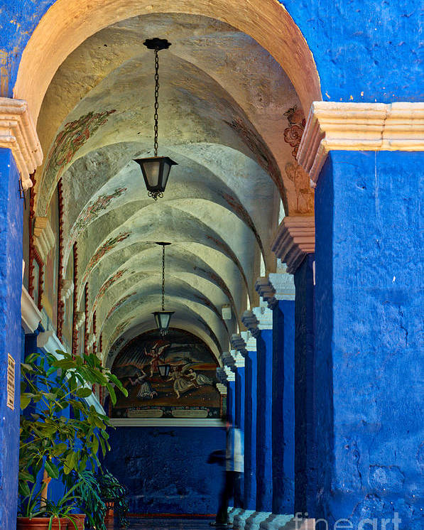 Santa Poster featuring the photograph Santa Catalina Convent Arequipa by Colin Woods