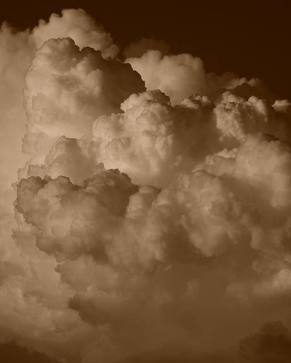 Sepia Poster featuring the photograph Sepia Clouds by Rob Hans