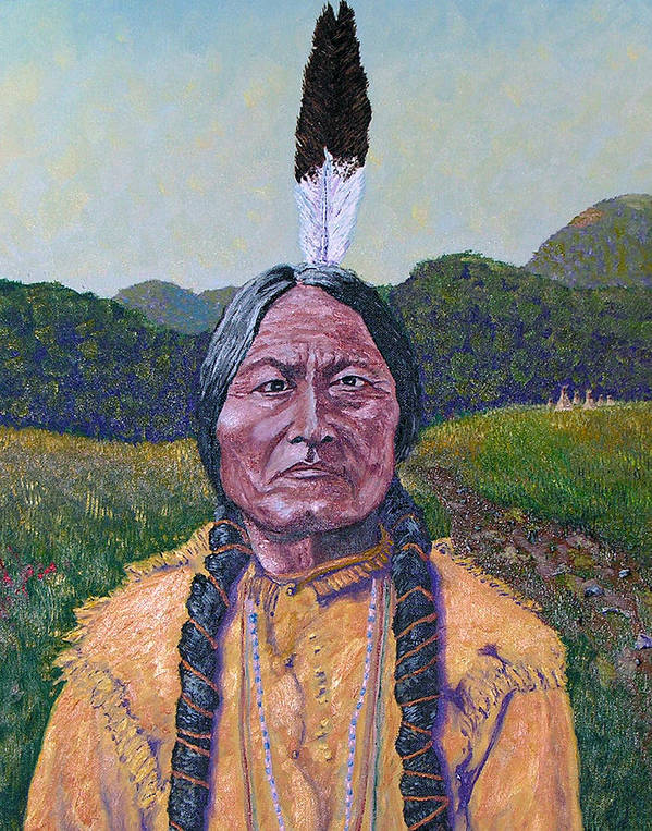 Sitting Bull Poster featuring the painting Sitting Bull by Stan Hamilton