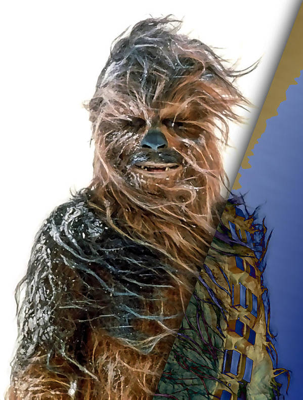 Chewbacca Poster featuring the mixed media Star Wars Chewbacca Collection by Marvin Blaine