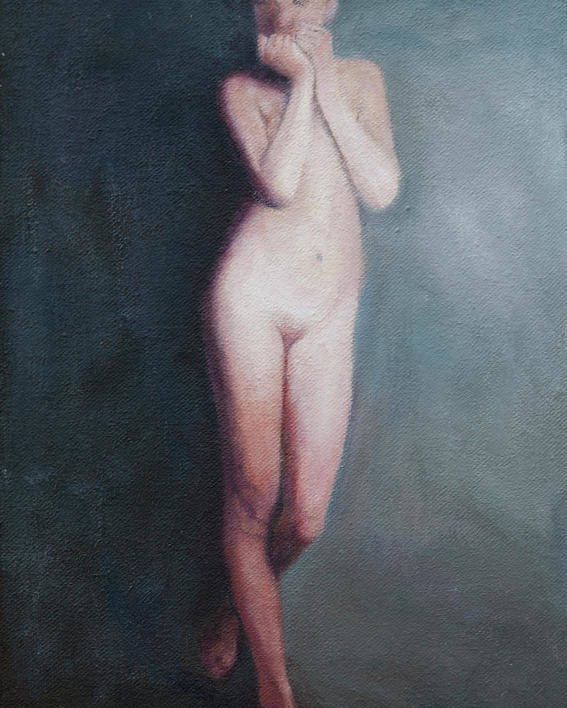 Nude Poster featuring the painting Thought by Masami Iida