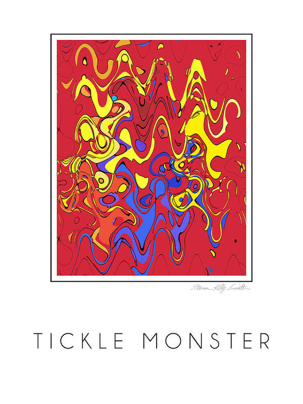 Poster featuring the digital art Tickle Monster by Steven Kelly Smith