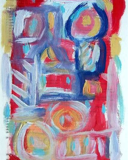 Abstract Art Poster featuring the painting Abstract On Paper No. 31 by Michael Henderson