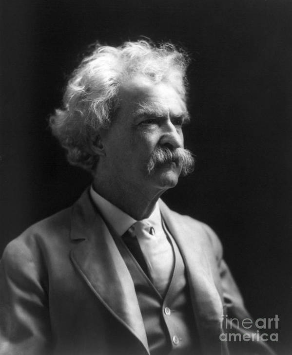 1907 Poster featuring the photograph Samuel Langhorne Clemens by Granger