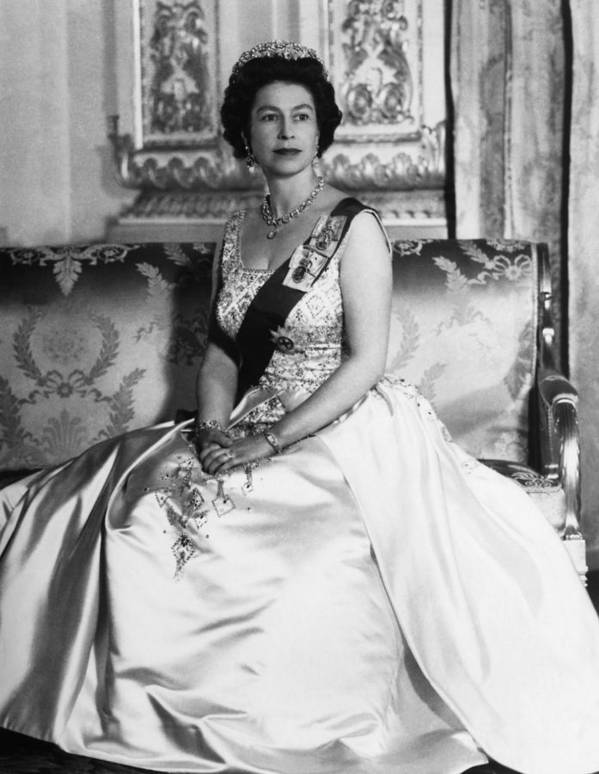 1960s Poster featuring the photograph British Royalty. Queen Elizabeth II by Everett