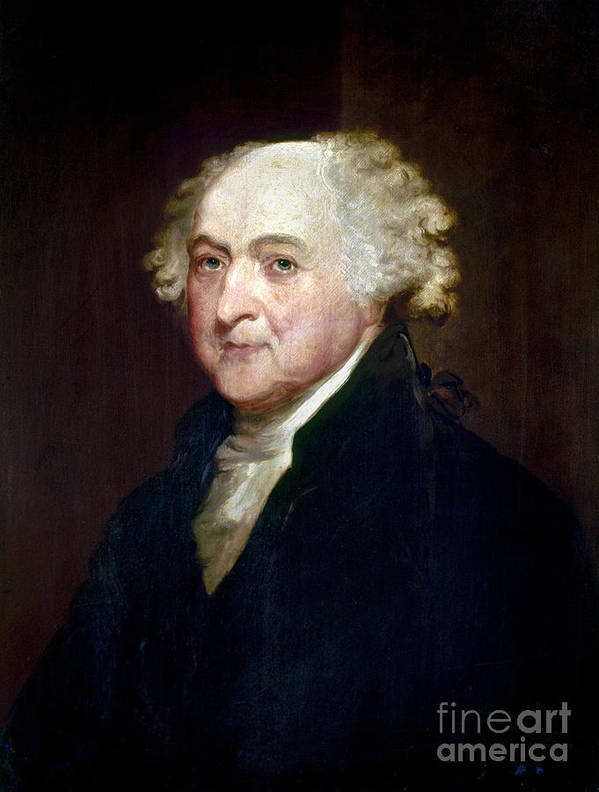 1800 Poster featuring the photograph John Adams (1735-1826) by Granger