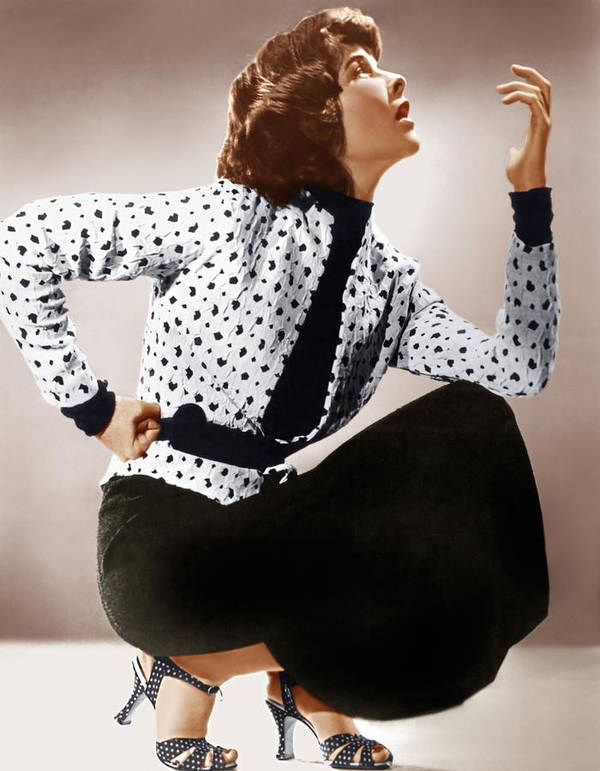 1930s Fashion Poster featuring the photograph Katharine Hepburn, Ca. 1930s by Everett