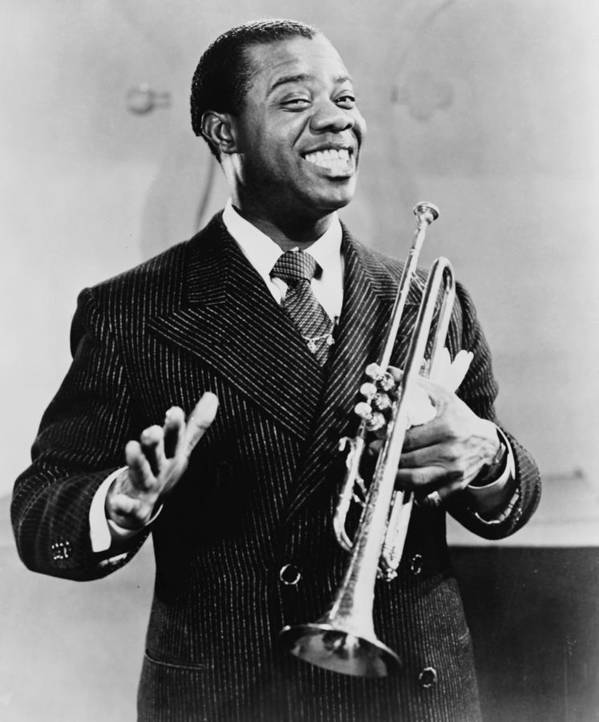 History Poster featuring the photograph Louis Armstrong 1901-1971, African by Everett