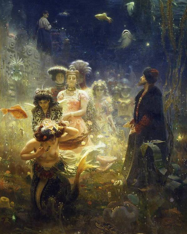 Ilya Repin Poster featuring the painting Sadko by Ilya Repin