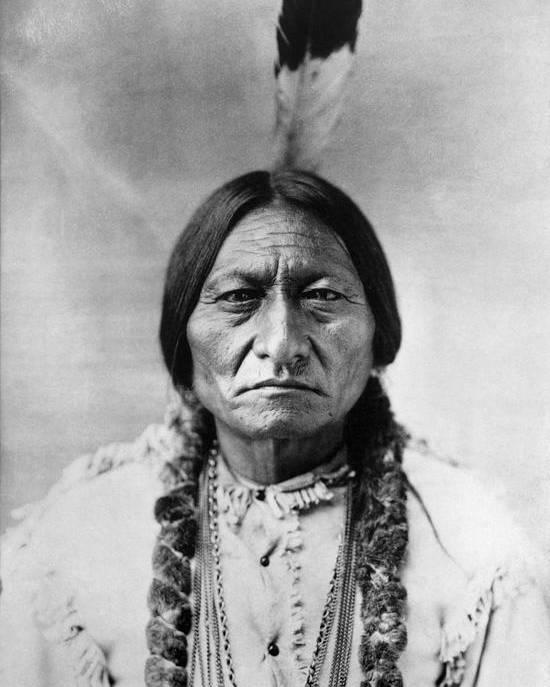 19th Century Poster featuring the photograph Sitting Bull (1834-1890) by Granger