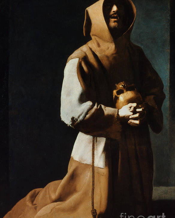 12th Century Poster featuring the painting St Francis Of Assisi by Granger
