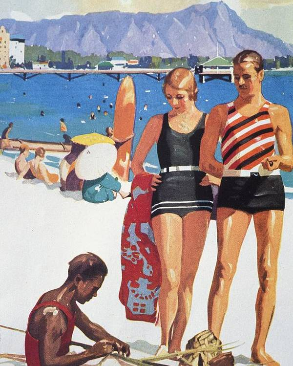 1927 Poster featuring the painting Vintage Hawaiian Art by Hawaiian Legacy Archive - Printscapes