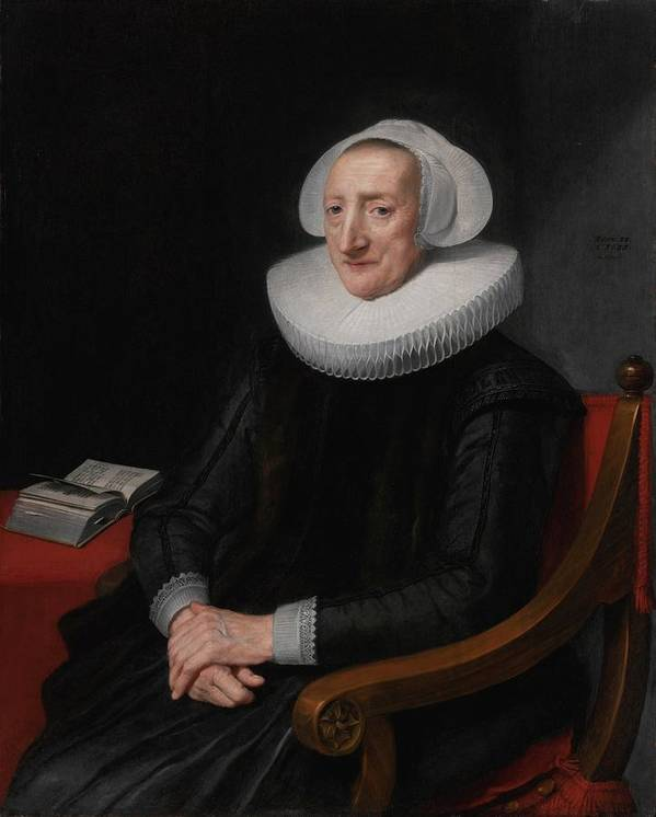 Michiel Jansz. Van Mierevelt Portrait Of A Lady Poster featuring the painting Portrait Of A Lady by MotionAge Designs