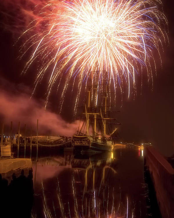 Salem Ma Poster featuring the photograph 4th Of July Salem Mass by Jeff Folger