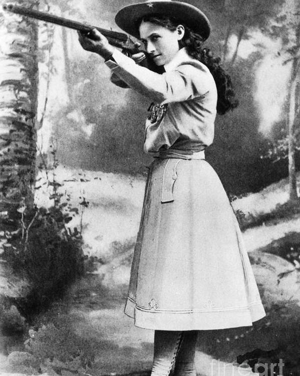 19th Century Poster featuring the photograph Annie Oakley (1860-1926) by Granger