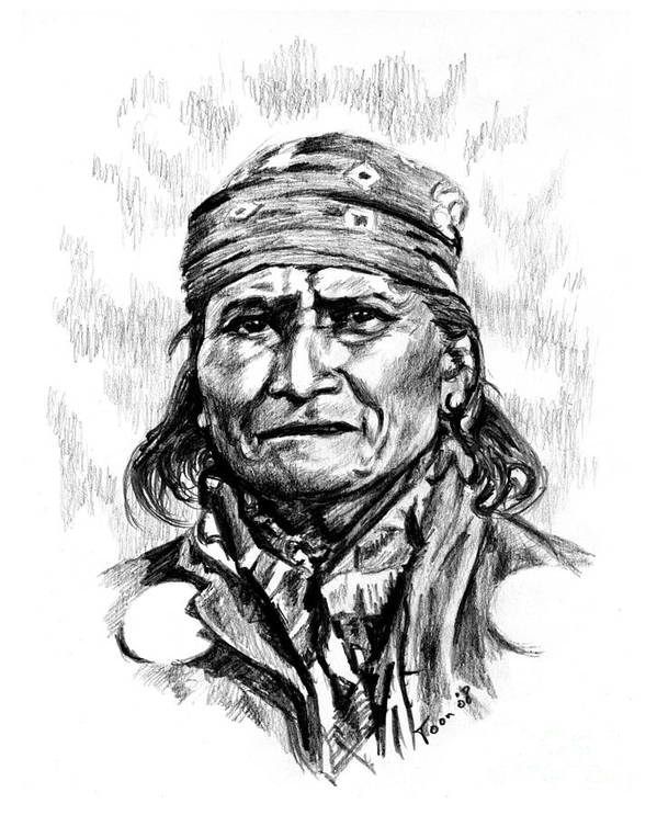Geronimo Poster featuring the drawing Geronimo by Toon De Zwart