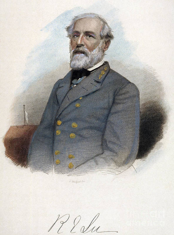 19th Century Poster featuring the photograph Robert E. Lee (1807-1870) by Granger