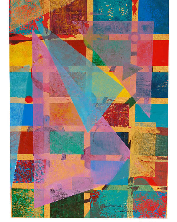 Abstract Poster featuring the painting Untitled by Padmakar Kappagantula