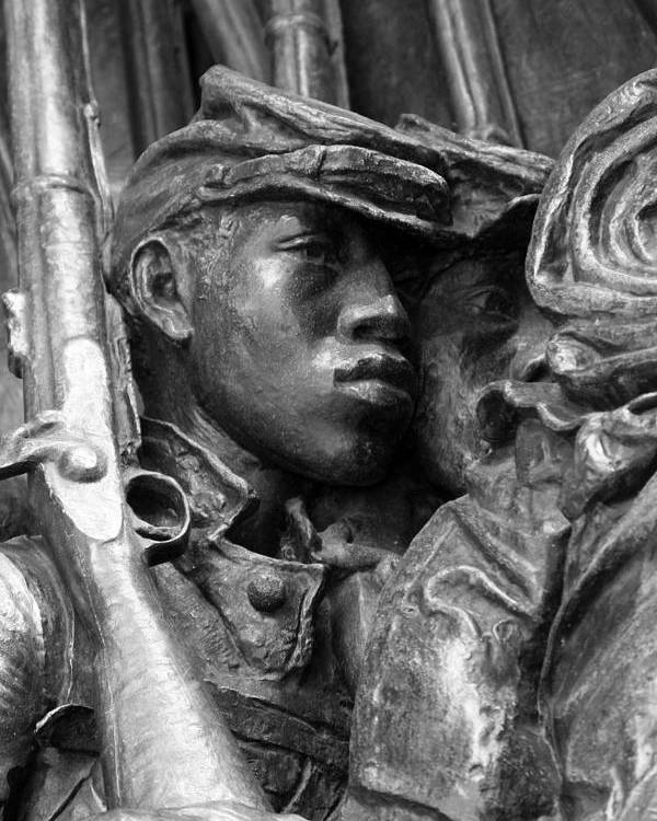 54th Regiment Poster featuring the photograph 54th Massachusetts Memorial by Brian M Lumley