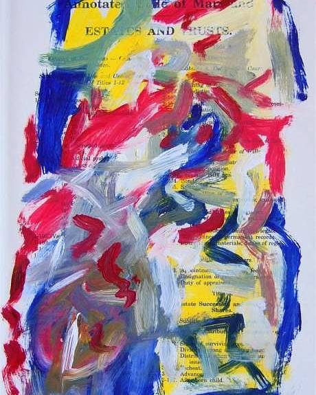 Abstract Art Poster featuring the painting Abstract On Paper No. 26 by Michael Henderson