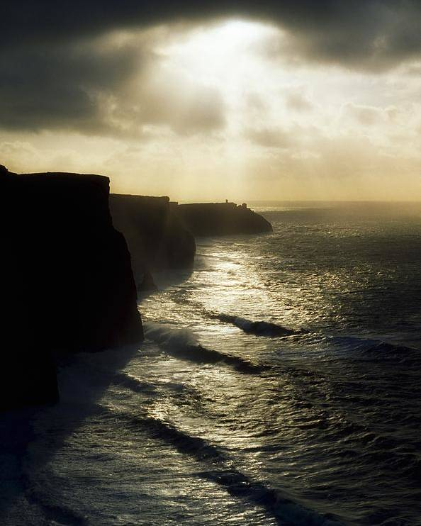 Clare Poster featuring the photograph Cliffs Of Moher, Co Clare, Ireland by The Irish Image Collection