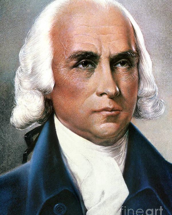 18th Century Poster featuring the photograph James Madison (1751-1836) by Granger