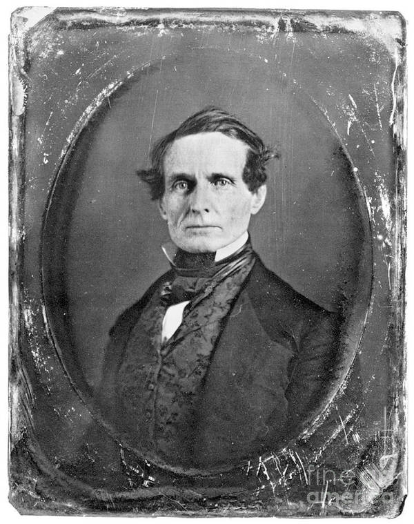 19th Century Poster featuring the photograph Jefferson Davis by Granger