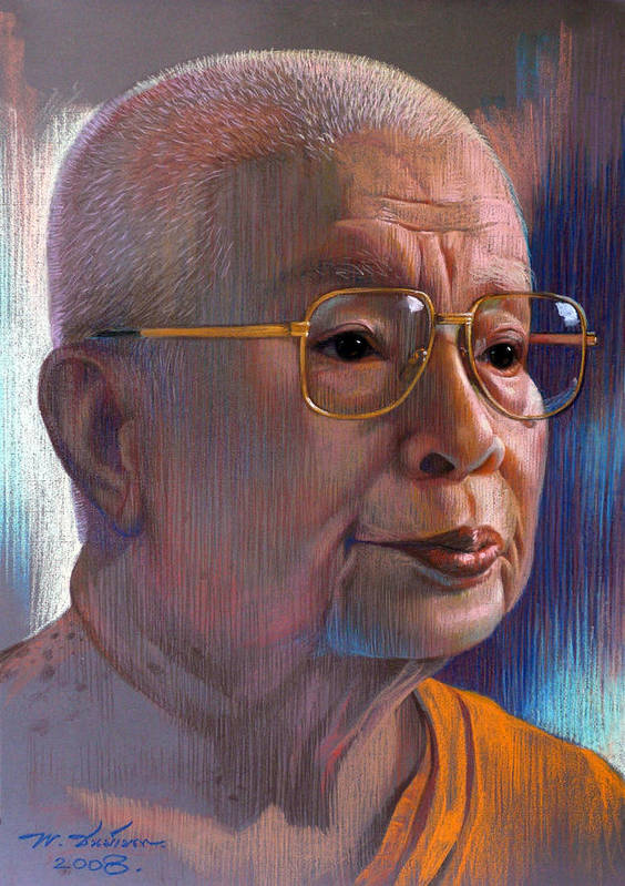 Pastel Poster featuring the painting Untitled by Chonkhet Phanwichien