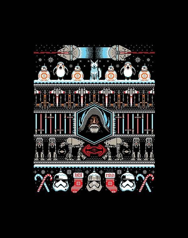 8 Bit Pixel Art Star Wars Poster