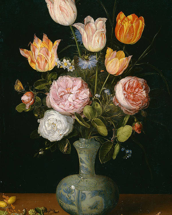 Animal Poster featuring the painting Flower Vase by Jan Brueghel the Elder