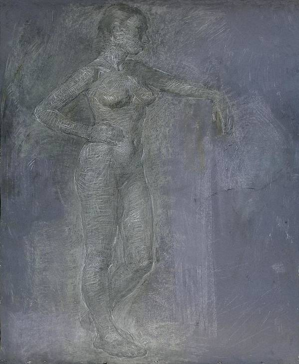Beauty Poster featuring the painting Model by Robert Nizamov