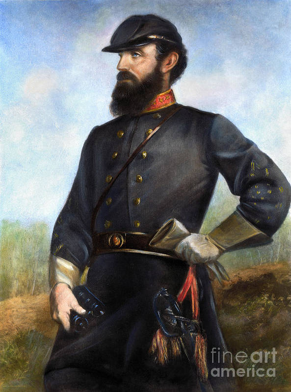 1860s Poster featuring the photograph Stonewall Jackson by Granger