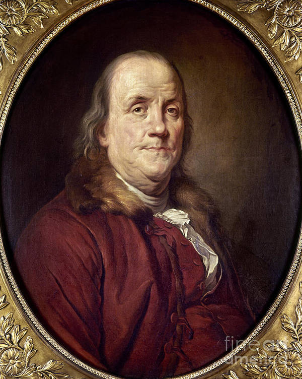 1785 Poster featuring the photograph Benjamin Franklin (1706-1790) by Granger