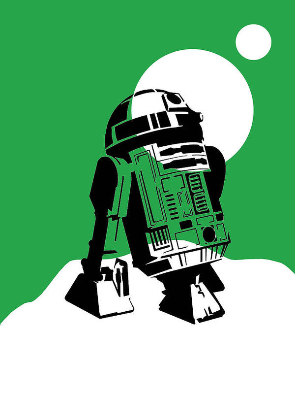 R2-d2 Poster featuring the mixed media Star Wars R2-d2 Collection by Marvin Blaine